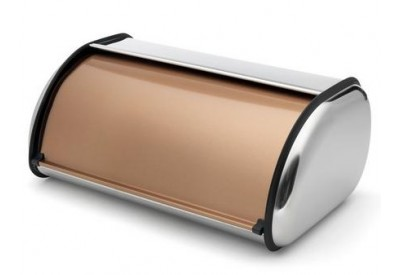 ADDIS Stainless Steel Roll Top Bread Bin Copper Finish