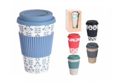 Excellent Houseware Natural Collection Bamboo Fibre Travel Mug (15cm)