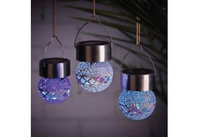 Cole & Bright Mosaic Hanging Bauble (solar powered)