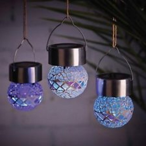 Cole Amp Bright Mosaic Hanging Bauble Solar Powered