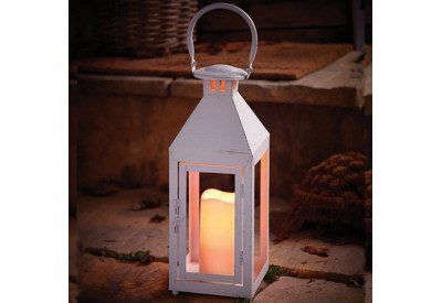 Cole & Bright Hampton Flicker Flame LED Candle Lantern (battery operated)