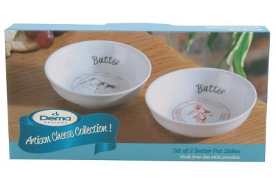 Dema Designs Set of 2 Butter Pat Dishes