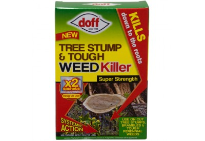 Doff Tree Stump & Tough Weed Killer (2 x 100ml sachets)