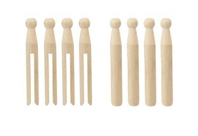 Elliott Beautiful Beech Wood Dolly Pegs (24 pack)