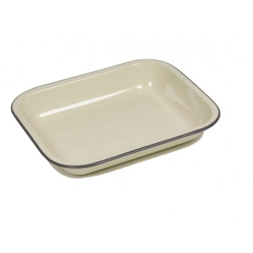 Falcon Housewares Enamel Bake Pan County Cream Range H