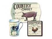 Farmers Market 'Time for Tea' Gift Set - Fine China Mug, Scatter Tray & Coaster