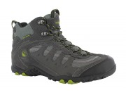 Hi-Tec 50 Peaks Penrith MID WP Walking Shoes (charcoal/chartreuse)