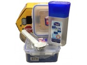 Lock & Lock Bus Set Series (1 x 600ml / 1 x 430ml / 1 x 300ml / spoon & fork)
