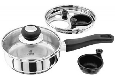 Judge Kitchen Essentials Egg Poacher with 2 Non-Stick Cups