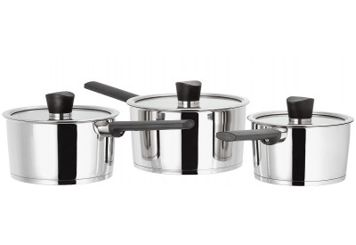 Judge Continental set of 3 Saucepans