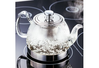 Judge Hob Top Glass Teapot (900ml or 1.2L) with Removable Stainless Steel Infuser