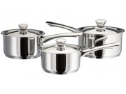 Judge Platina Saucepan Set 3 piece (16 / 18 / 20cm)