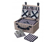 Kitchen Craft Coolmovers 'Lighthouse' 4 Person Fitted Picnic Basket (HALF PRICE: was £79.99)