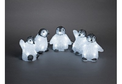 Konstsmide Acrylic Penguin 5 piece LED Set (12.5cm x 12cm)