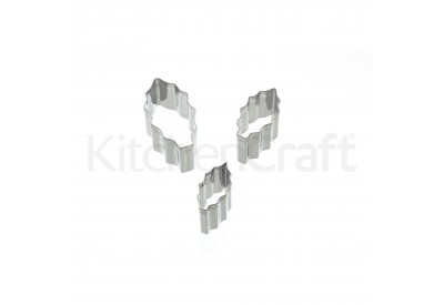 Kitchen Craft 'Sweetly Does It' Stainless Steel Holly Fondant Cutters (set of 3)