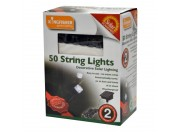 Kingfisher Decorative Solar String Lights x 50 (bright white LEDs)