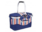 "Kitchen Craft Coolmovers 'Seafarer' Collapsible Cool Basket (21 litres / 45cm x 24cm x 27cm / 18"" x 9"" x 11"" )"