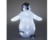 Konstsmide Acrylic Penguin LED Battery Operated (30 x 28cm)