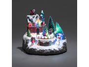Konstsmide Mechanical Snow Garden Christmas Decoration LED. Battery or Electric Operated (20.5 x 18cm)