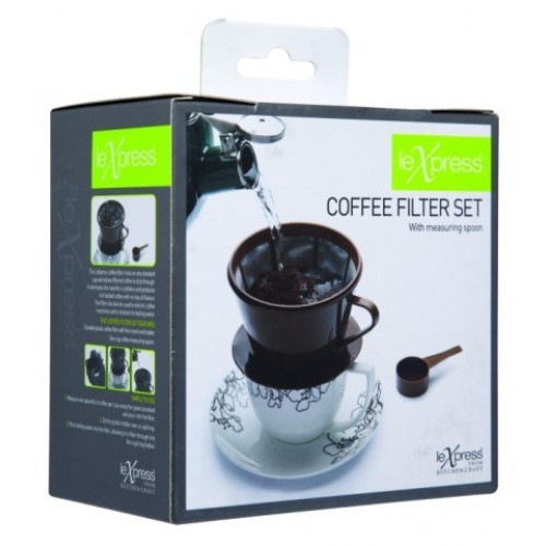 Kitchen Craft Le Xpress Coffee Filter Set with Measuring Spoon
