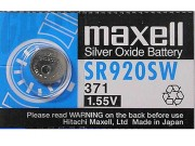 Maxwell Silver Oxide 371 / SR920SW (Watch) Battery (1.55V)