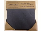 Creative Tops 'Naturals' Square Natural Slate Coasters (10cm x 10cm) x 4