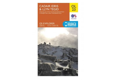 OS Explorer Map OL23 - Cadair Idris & Llyn Tegid (1:25,000 scale)