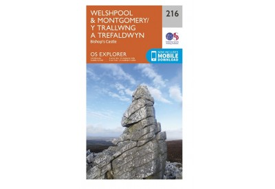 OS Explorer Map 216 - Welshpool & Montgomery including the Bishop's Castle (1:25,000 scale)