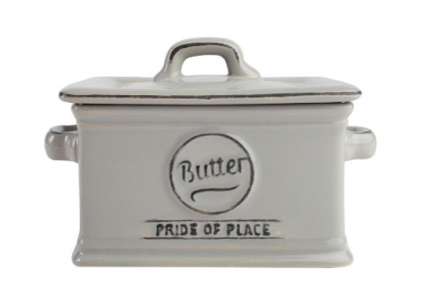 "Pride of Place Butter Dish OLD GREY (L135 x W97 x H100mm / 5.3 x 3.8 x 3.9"")"