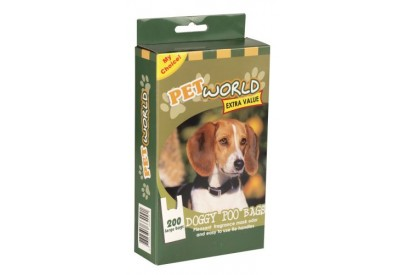 Pet World Extra Value Doggy Poo Bags (200 large bags)