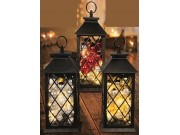 Premier Lit Bauble Lantern (Battery Operated, Warm White LEDs, 27cm)