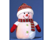 Premier Colour-Changing with Red LEDs Snowman (23cm / Indoor Use / Battery Operated)