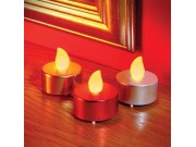 Premier Flickering Tea Lights (set of 4) Battery Operated