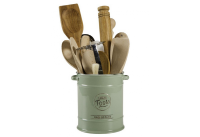 "Pride of Place Cooking Tools Jar OLD GREEN (D160 x H185mm / 6.2 x 7.2"")"