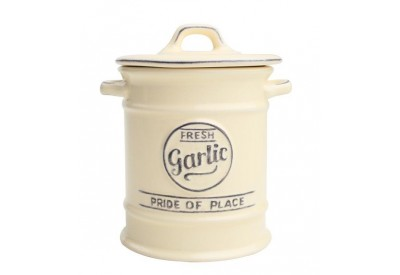 "Pride of Place Garlic Jar OLD CREAM (D95 x H130mm / 3.7 x 5.11"")"