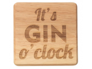 T & G 'It's GIN o'clock' Wooden Coasters (10 x 10cm)