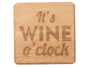 T & G 'It's WINE o'clock' Wooden Coasters (10 x 10cm)