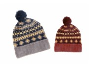 Tom Franks Men's Fairisle Bobble Hat