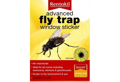 Rentokil Advanced Fly Trap Window Sticker (4 units) Flower Design