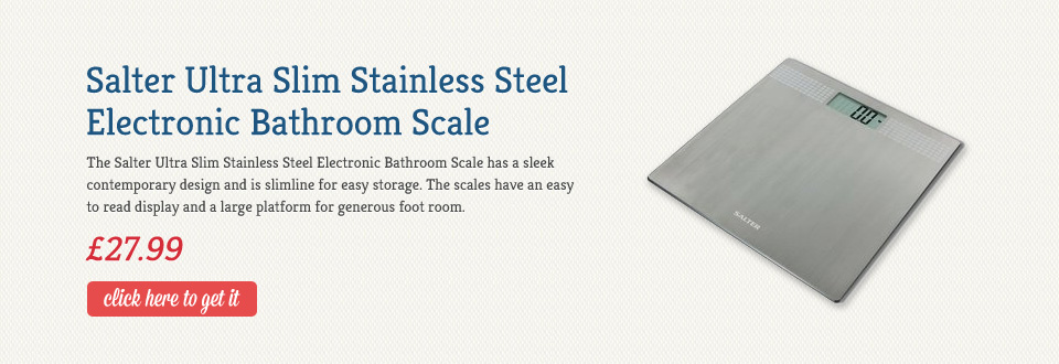 Salter Ultra Slim Stainless Steel Electronic Bathroom Scale