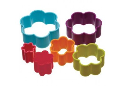 Colour Works Set of 6 Flower Cookie Cutters