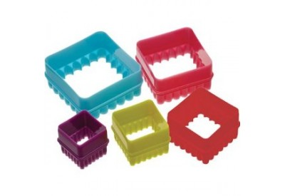 Colour Works Set of 5 Square Cookie Cutters