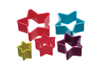Colour Works Set of 5 Star Cookie Cutters