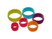 Colour Works Set of 6 Round Cookie Cutters