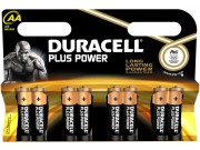 Duracell Plus Power AA/LR6/1.5V Alkaline Batteries x 8