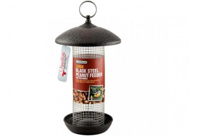 Gardman Black Steel Peanut Feeder for Birds