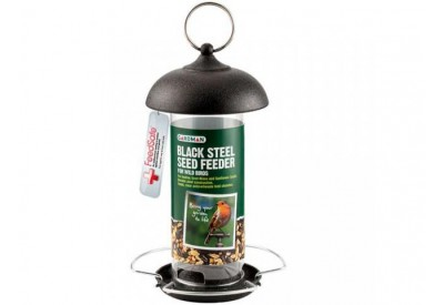 Gardman Black Steel Seed Feeder for Birds