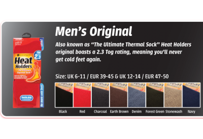 Heat Holders Thermal Socks (Size: UK 6-11)
