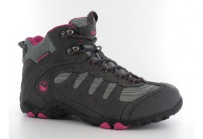 Hi-Tec 50 Peaks Penrith MID WP Walking Shoes (charcoal/cyclamen) WOMENS