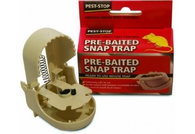 Pest-Stop Pre-Baited Snap Trap (ready to use Mouse Trap)